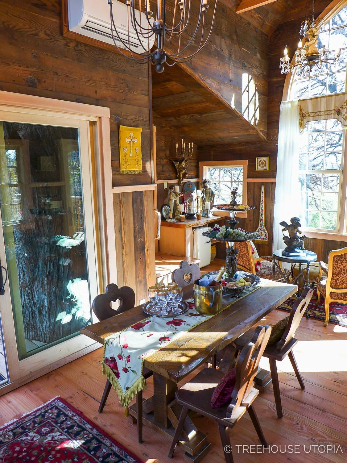 Inside Chapelle At Treehouse Utopia A Texas Hill Country