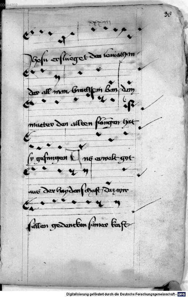 Mönch von Salzburg. Oswald von Wolkenstein: Geistliche Lieder mit Melodien Bayern/Österreich, erste Hälfte 15. Jh.: 3. Viertel 15. Jh. Cgm 715 Folio 69