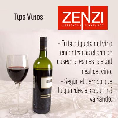 Tips Vinos: ¿Conoces la edad del vino? - En la etiqueta del vino encontrarás el año de cosecha, esa es la edad real del vino.  - Según el tiempo que lo guardes el sabor irá variando.