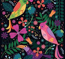 Enchanted Tiki Birds  by CarlyWatts