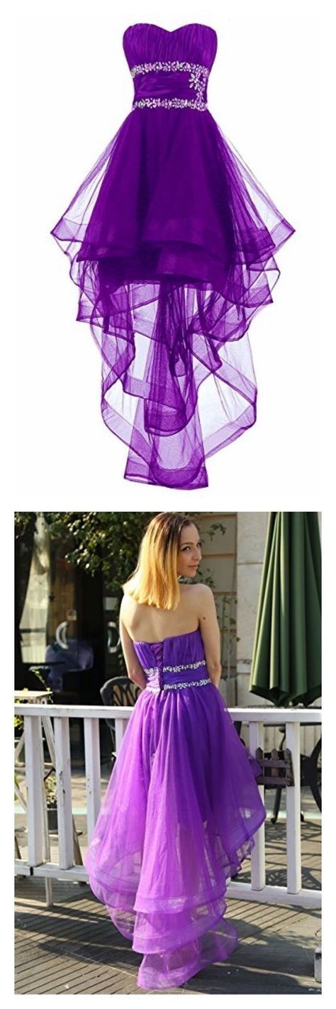 Sweetheart High Low Layers Tulle Homecoming Dresses Party Dresses ...
