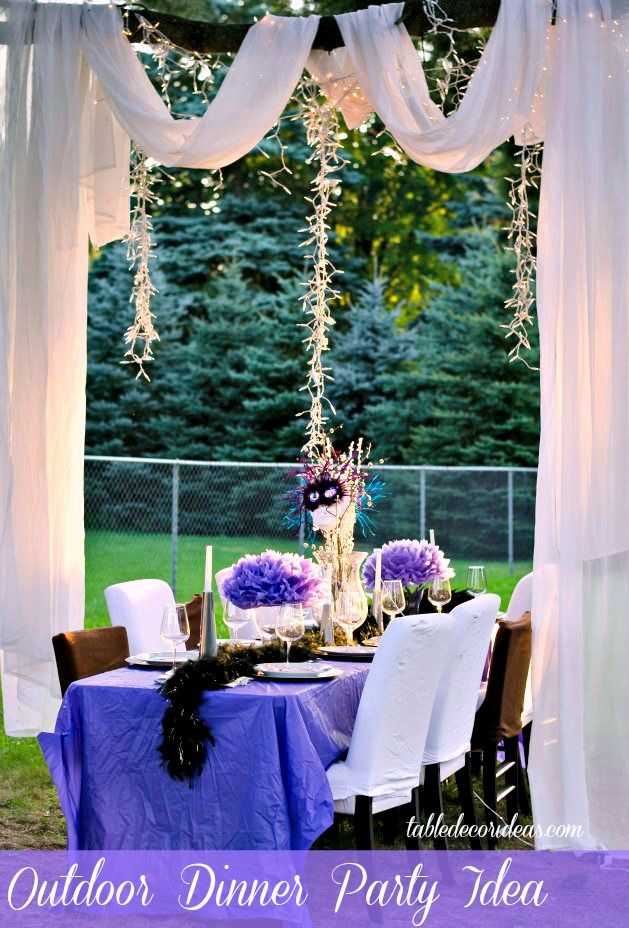 Dinner Party Activities Ideas Part - 46: Outside Dinner Party Idea