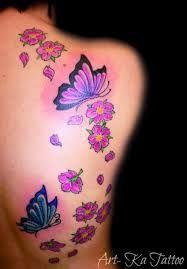 tattoo braccio fiori e farfalle , Cerca con Google
