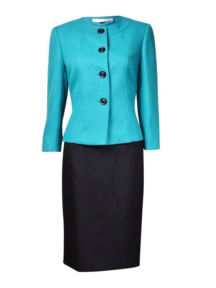 915e4949f4a Tahari Women's Dubai Dream Herringbone Skirt Suit   shantee   Skirt ...