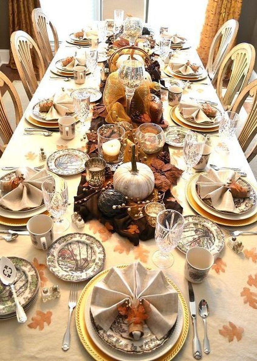 25 Perfect Thanksgiving Table Decoration for Elegant Style #thanksgivingdinnerta…