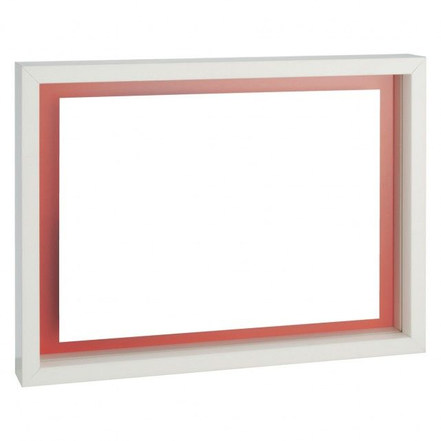 Monro A4 21 X 30cm 8 X 12 White Reversible Floating Picture Frame