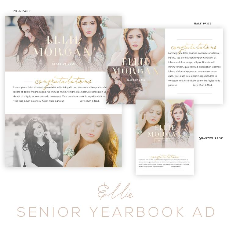 Ellie Senior Yearbook Ad Templates {Oh Snap} | business // photo ...