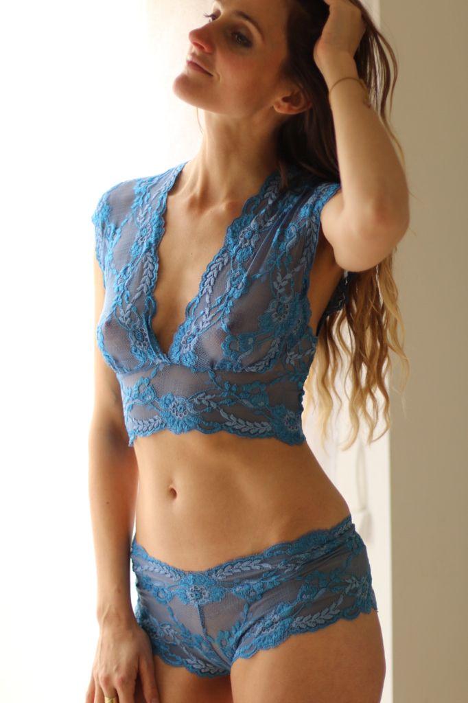 1c4c6d89c39a Electric Blue Lingerie Set, handmade underwear by Brighton Lace ...