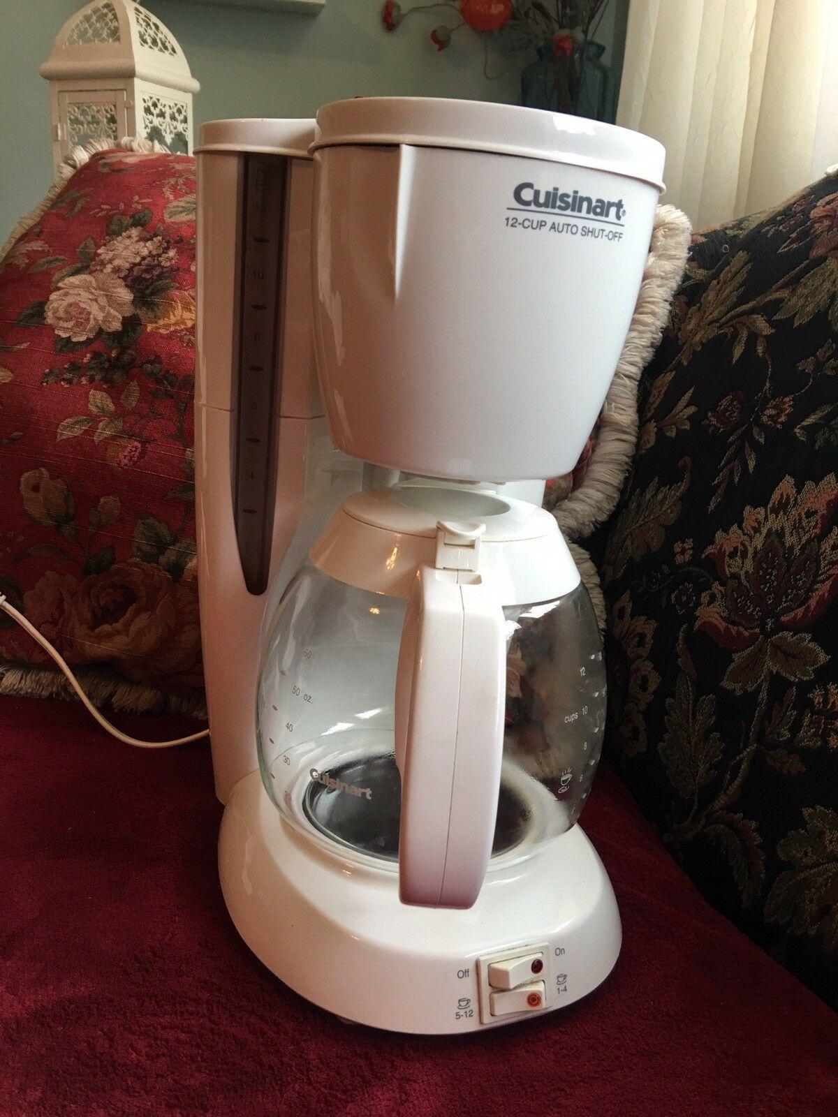 Rare Cuisinart Coffee Bar Dcc 200 White 12 Cups Coffee Maker Auto Shut Of In 2020 Coffee Maker Single Cup Coffee Maker Cuisinart Coffee Maker