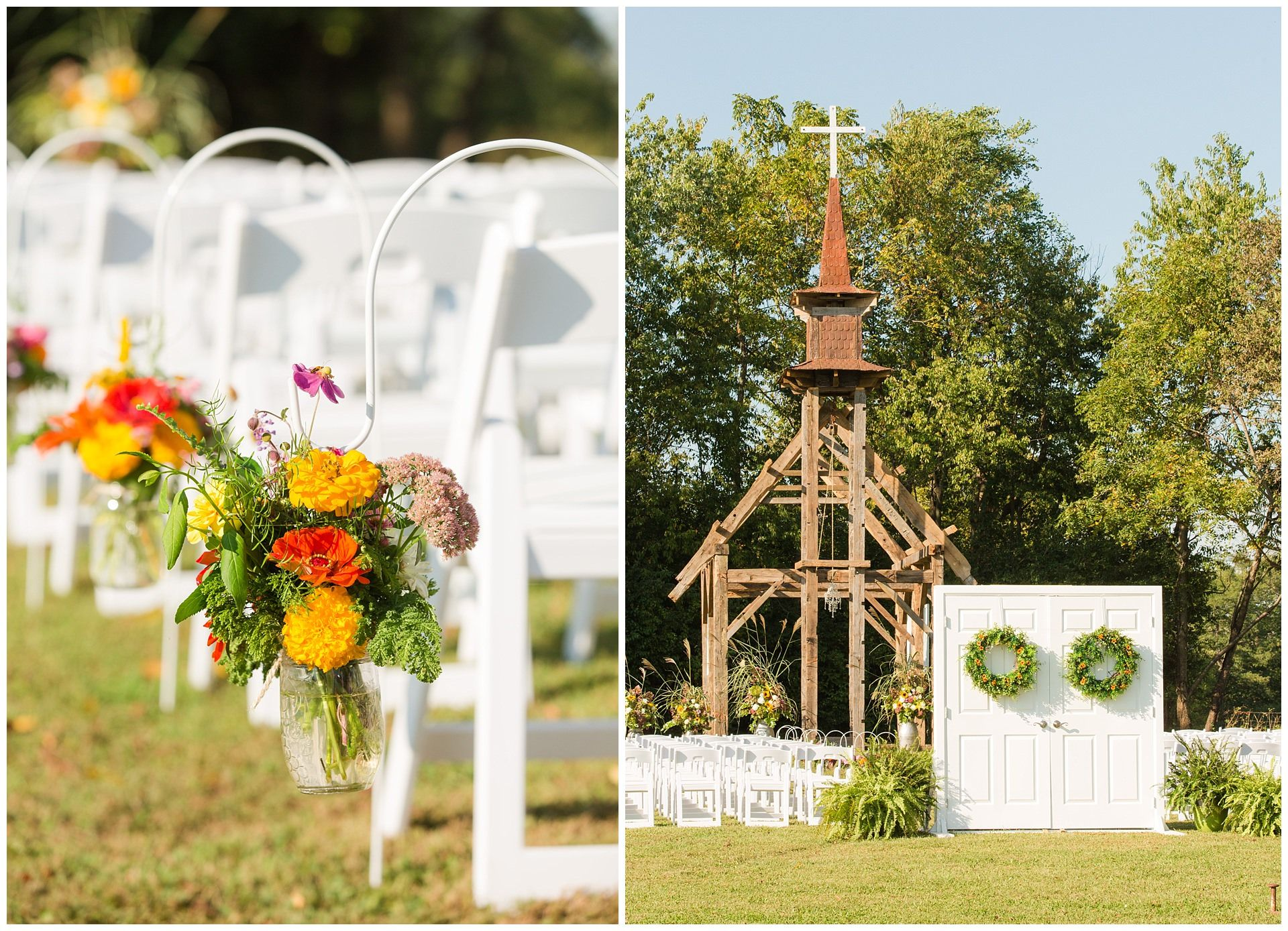 Photo of Stunning Outdoor Wedding Ceremony and Reception on a Family Farm in Lexington, KY