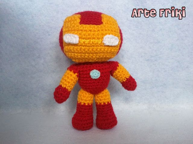 iron man amigurumi crochet ganchillo muñeco peluche | Blog Arte ...