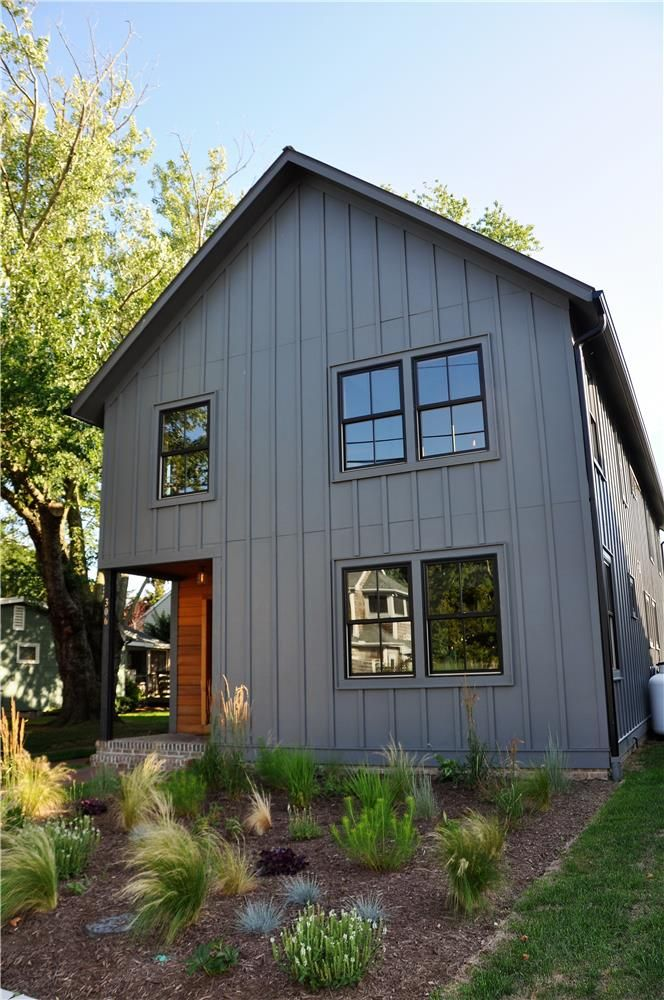 10 Stunning Home Exteriors With Board And Batten Siding Craftivity Designs Farmhouse Exterior Barn Style House House Exterior