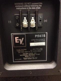 Electro Voice Pi 9415 3 Way Concert Lautsprecher 4 Stück In