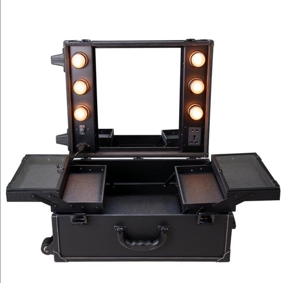 Vanity Suitcase With Lights Captivating Professional Makeup Vanity Suitcase  Makeup Vanities Professional Design Ideas