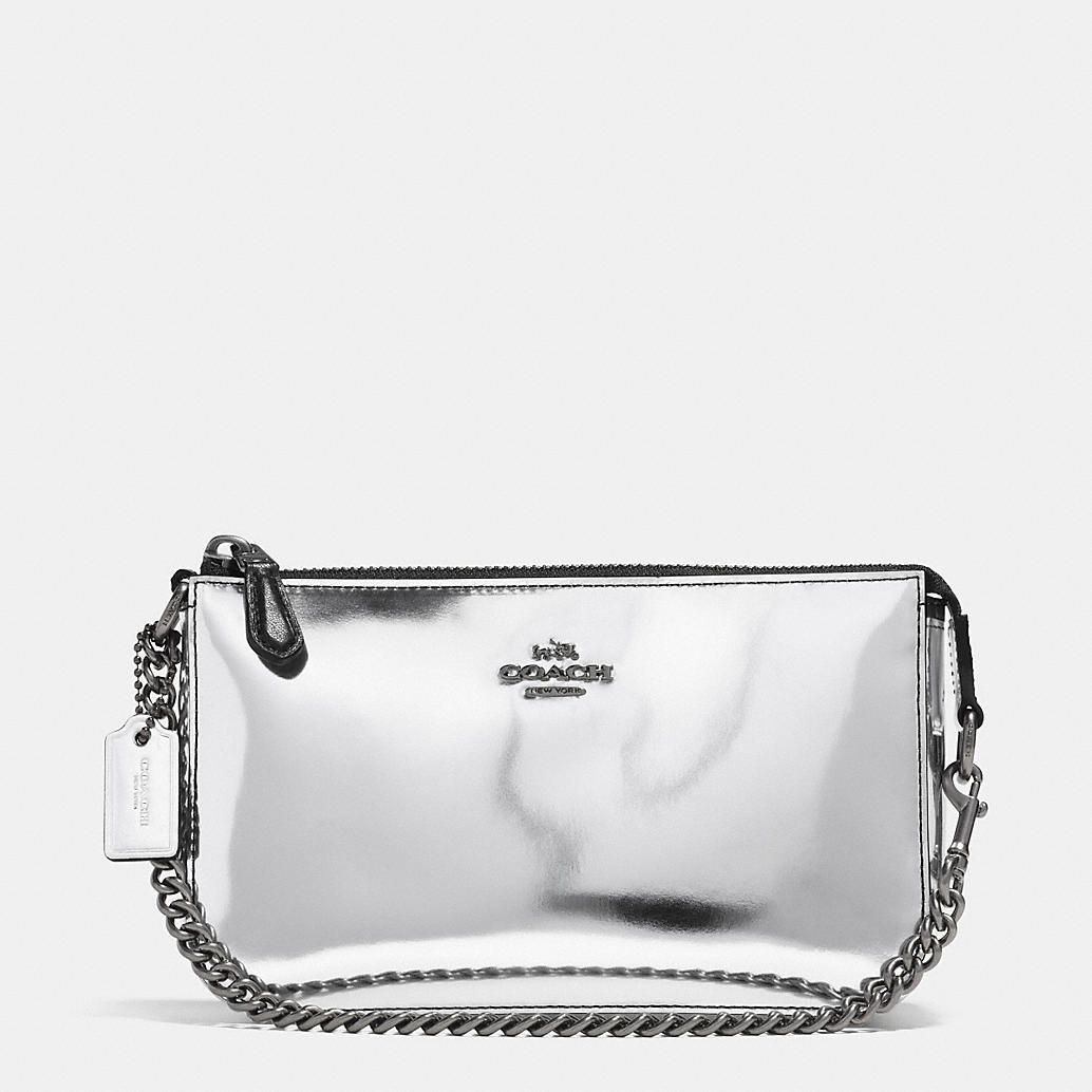 b9a06e0cd7 NOLITA WRISTLET 19 IN MIRROR METALLIC LEATHER-Coach
