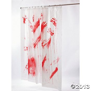 Bloody Shower Curtain Scary halloween, Oriental trading and Scary