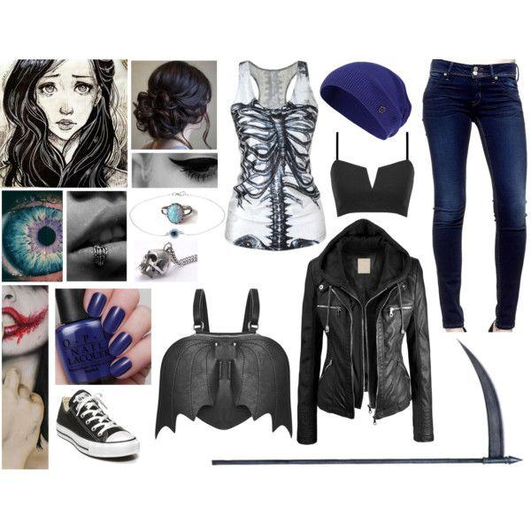 Cadie Willows Outfit Twenty-two by yukihanayuuki on Polyvore featuring Hudson Jeans, Converse, Ileana Makri, Sweaty Betty and OPI
