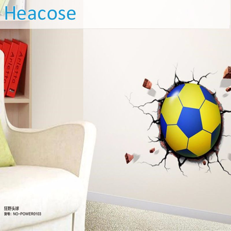 Cheap Home Decor, Buy Quality Wall Sticker Directly From China Wall Decals  Suppliers: Fashion Sports Soccer Ball Wall Sticker HOT SALE LED POWER Wall  Mural ...