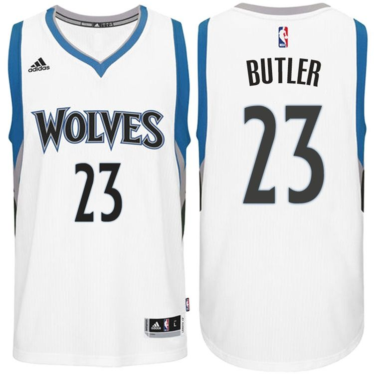 outlet store 7d5c9 04053 mens minnesota timberwolves 23 jimmy butler white stitched ...