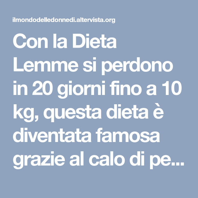 dieta per perdere 10 chili in 10 giorni