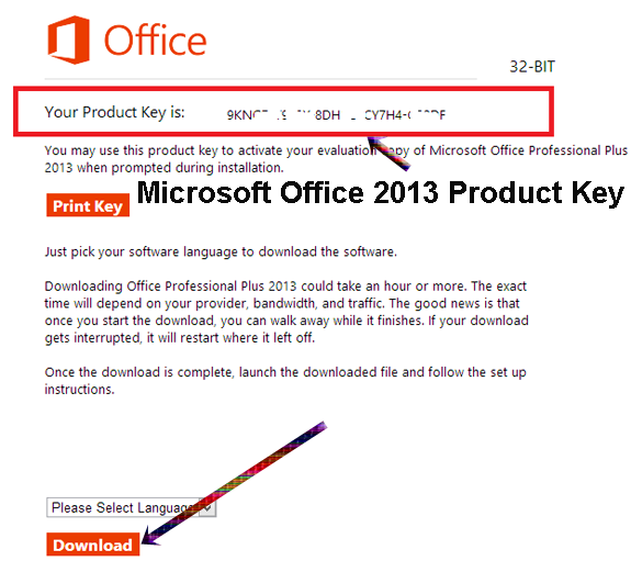 microsoft office 2013 32 bit product key free download