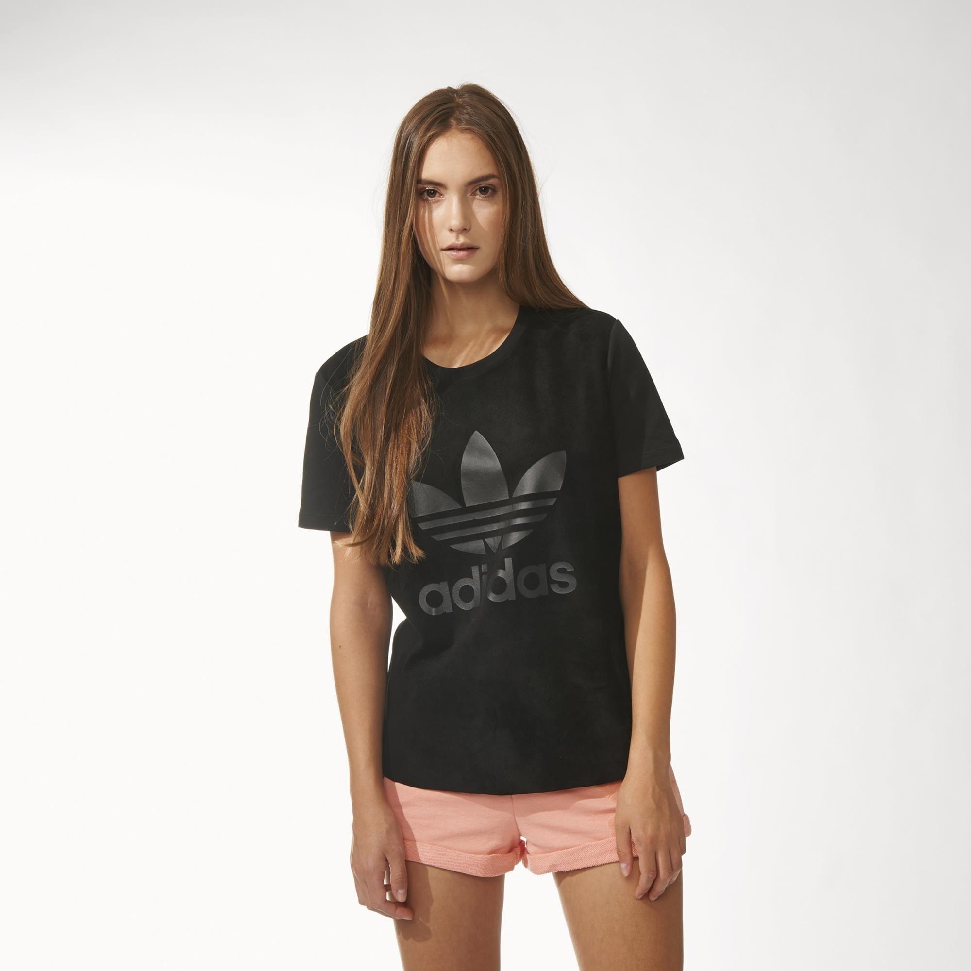 adidas - Playera Originals Suede Mix Mujer   Adidas ...