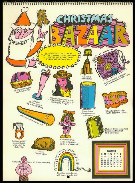 Psychedelic Hallmark Calendar 1970 12 70 By Mewdeep Via Flickr