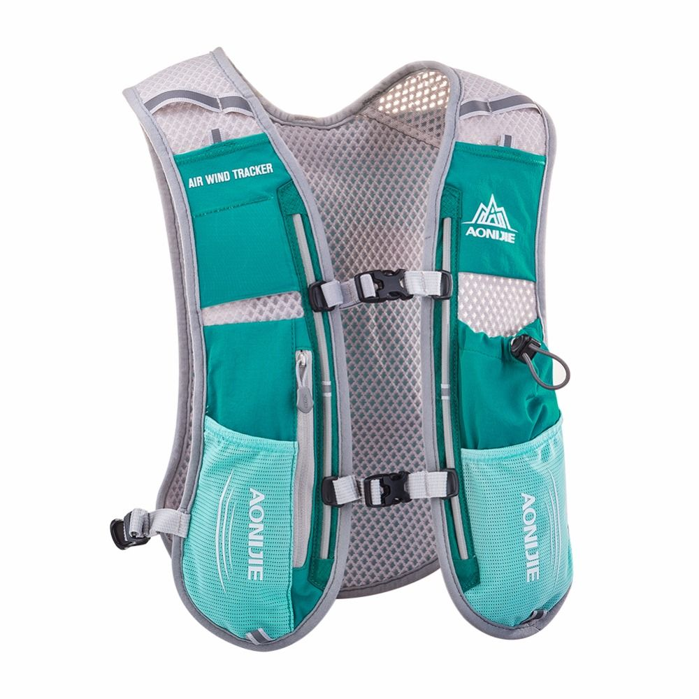 Aonijie 5l Outdoor Sport Bag Lightweight Water Hydration Bicycle Waist Blue Green Running Vest Marathon Race Training Camping Backpack