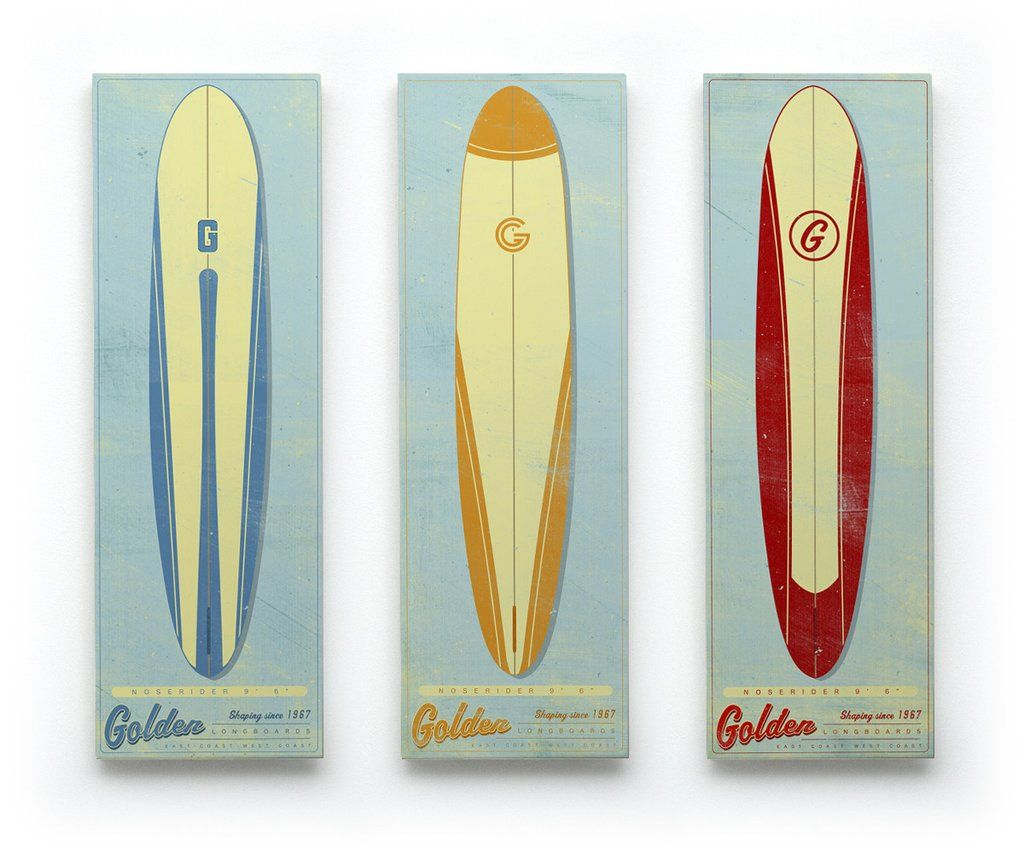 Beautiful Surfboard Wall Art Illustration - All About Wallart ...
