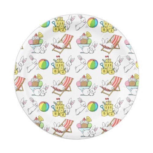 Bunnies at the Beach Paper Plate  sc 1 st  Pinterest & Bunnies at the Beach Paper Plate | Beach