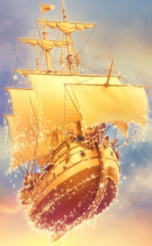 Bateau pirate volant flying pirate ship random disney - Bateau pirate peter pan ...