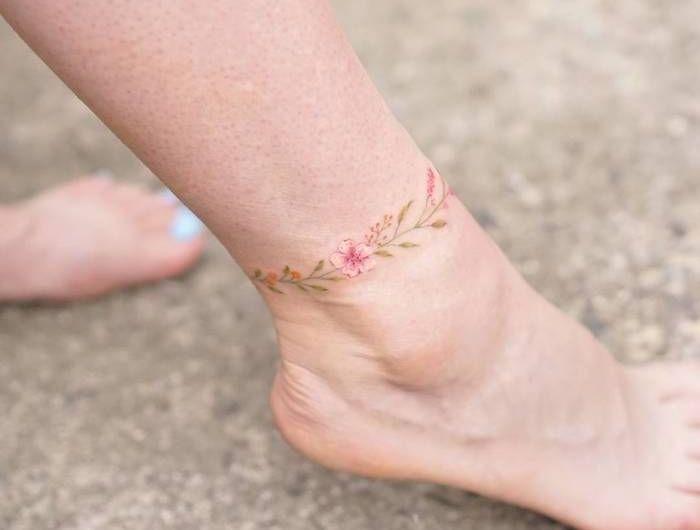 Tatouage Bracelet Cheville Le Tattoo A La Chaine Anklet Tattoo
