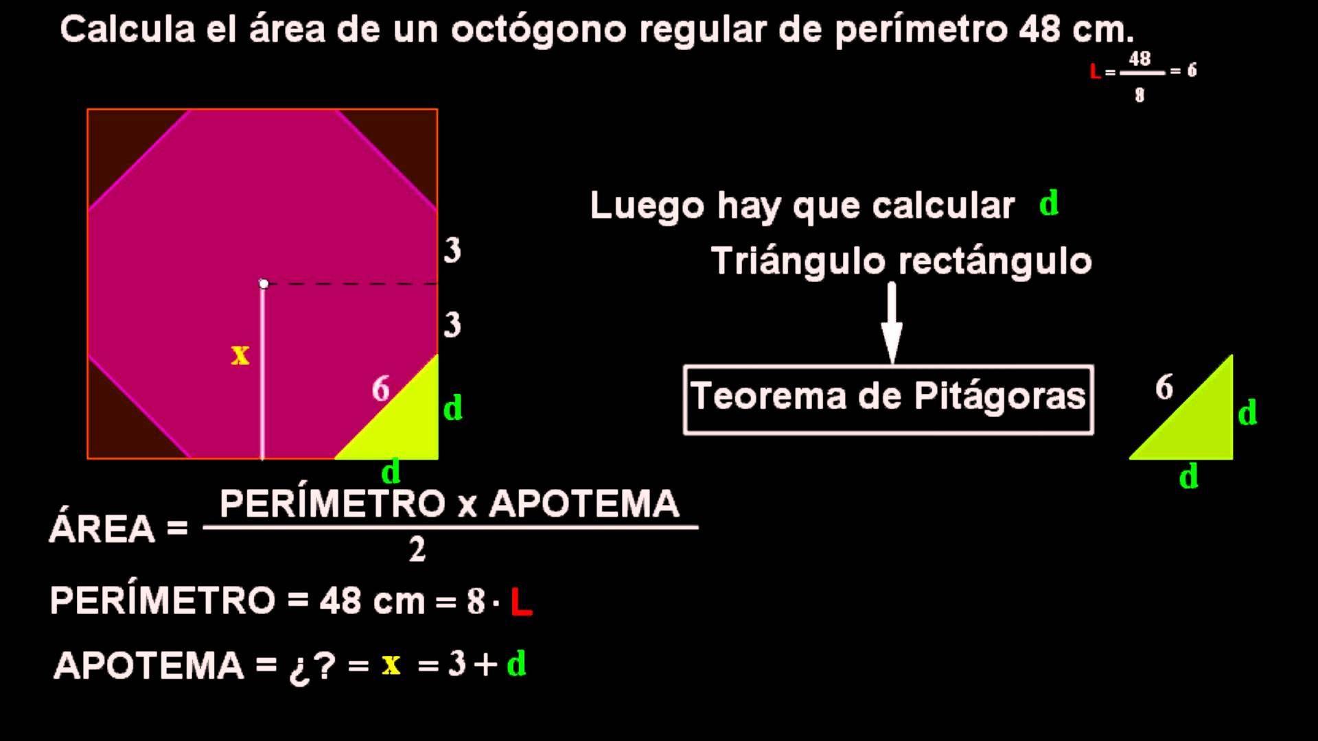 Ejemplo De Como Calcular El Area De Un Octagono Calcular El Area