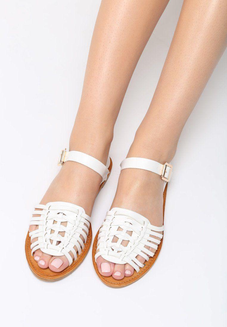 Biale Sandaly Outsider Palm Beach Sandals Beach Sandals Fashion