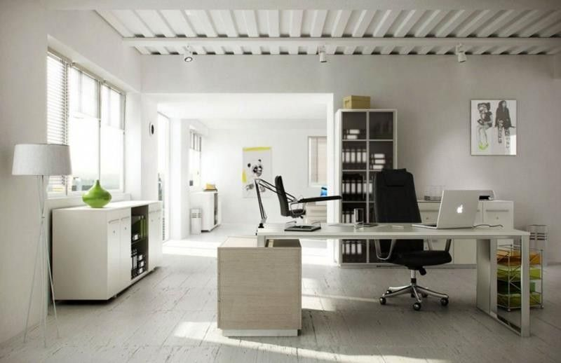 Awesome Modern Home Office Decoration Idea with WallMounted
