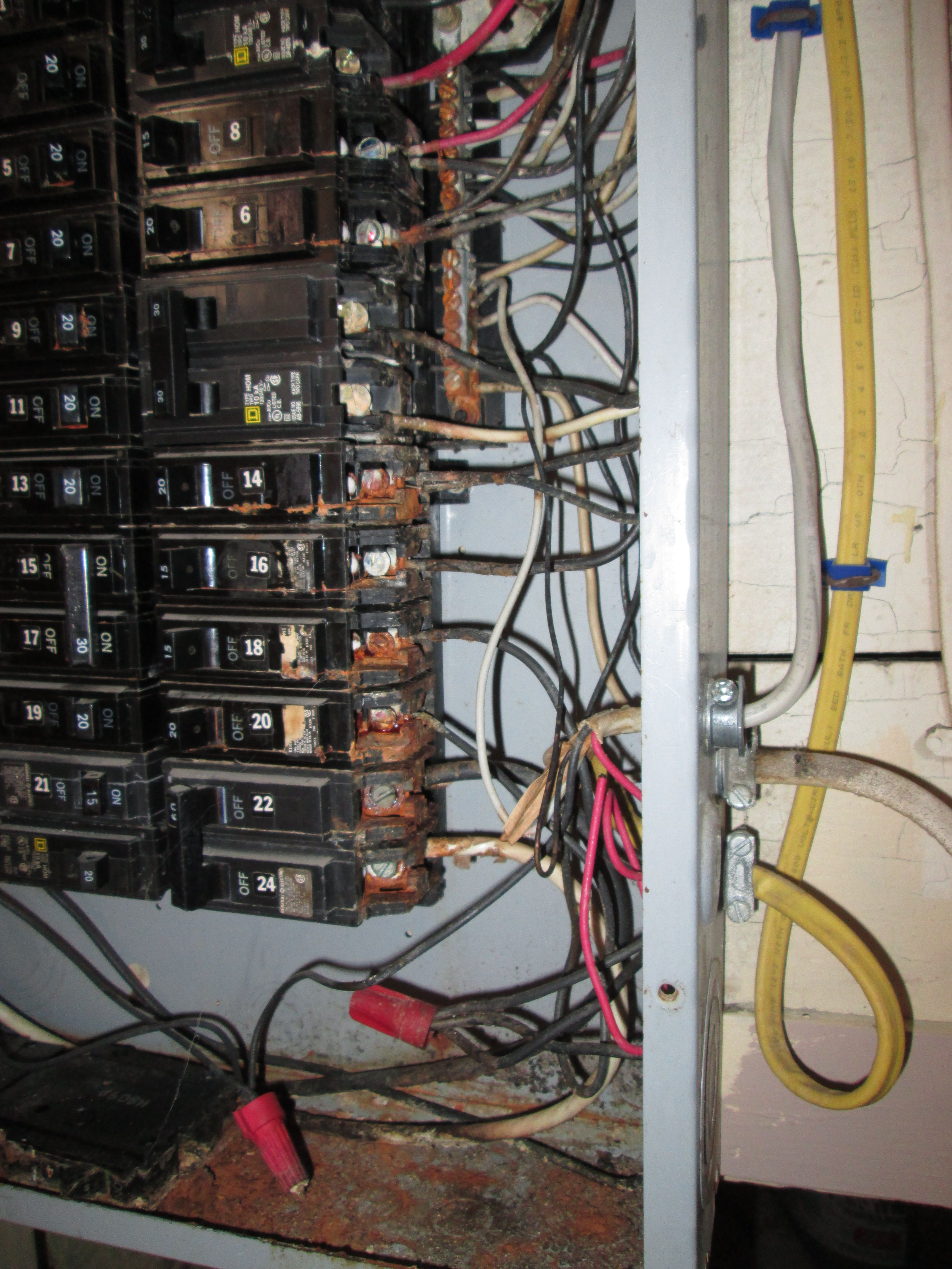 Corrosion In An Energized 200 Amp Electrical Panel Electrical Panel Home Inspection Home