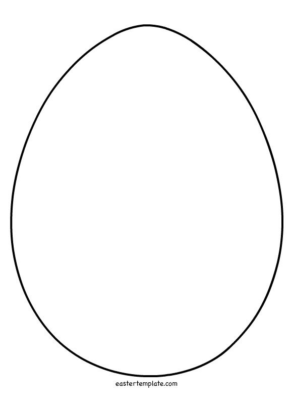 Easter egg shape coloring page - Easter Template
