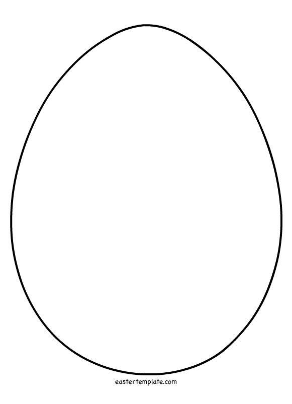 easter egg shape Templates Pinterest Easter