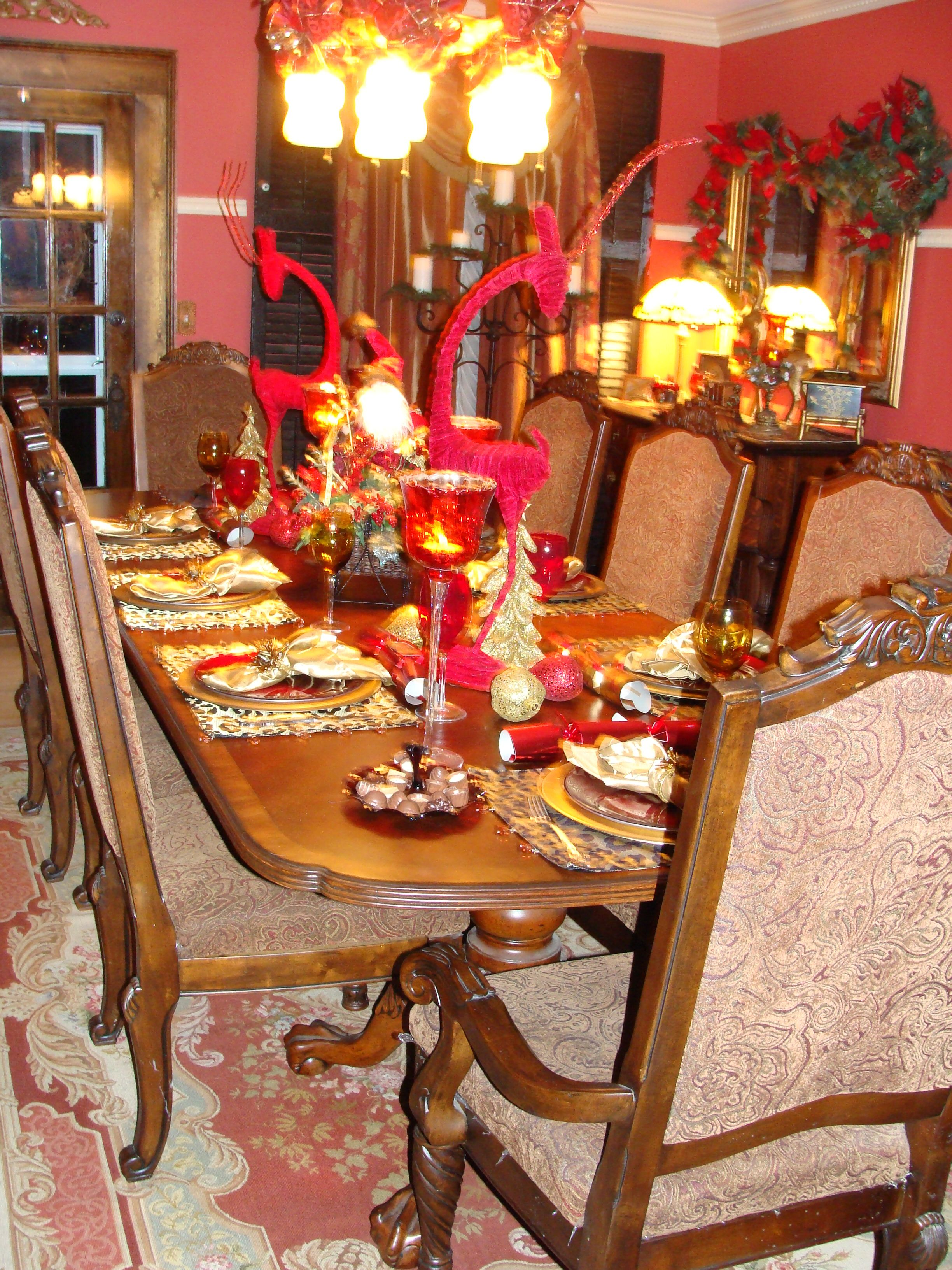 Victorian Christmas Dining Table