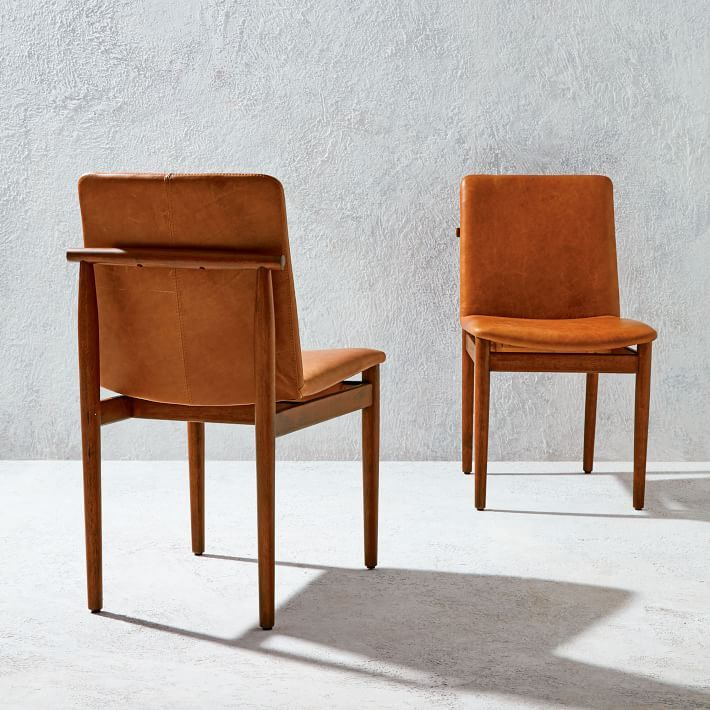 Framework Leather Dining Chair Saddle With Images Leather