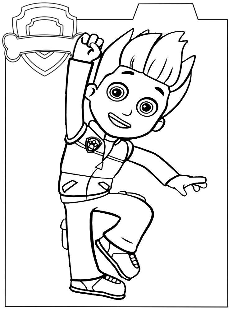 Распечатать раскраски для малышей Щенячий патруль ...