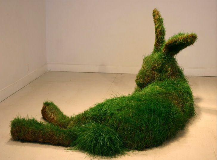 "unicorn-meat-is-too-mainstream: "" ""Great Hare"" sculptures by Mary Catherine Newcomb """