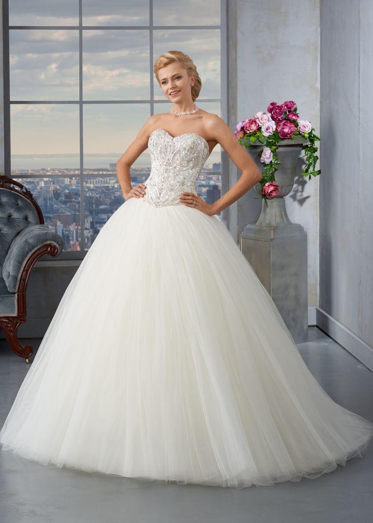 Vestido de Noiva de Affezione (CSARITE), corte princesa, decote ...