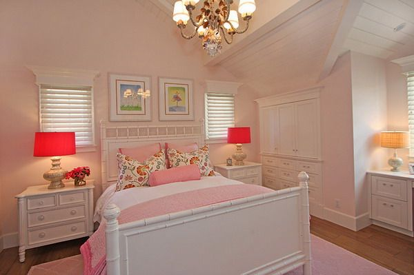 Pink Girls Bedrooms pink girls bedroom ideas with white furniture set | dream home