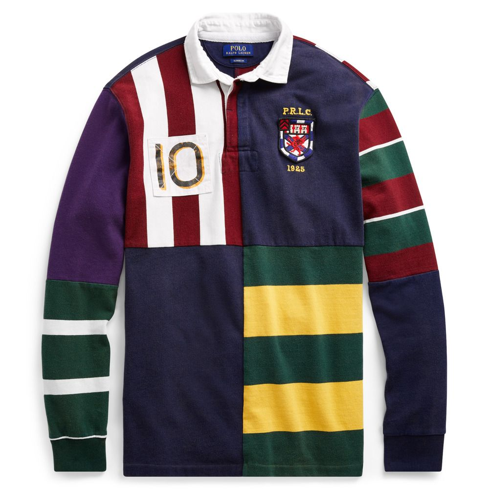 595cb4b6b Polo Ralph Lauren Men Patchwork Rugby Polo Shirt CP 93 Stadium Snow Beach XL   PoloRalphLauren