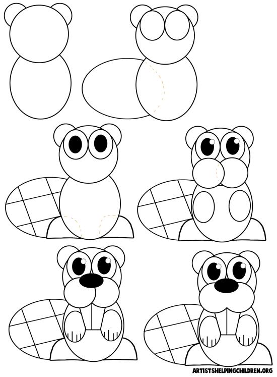 how to draw cartoon beavers zeichnen leicht gemacht