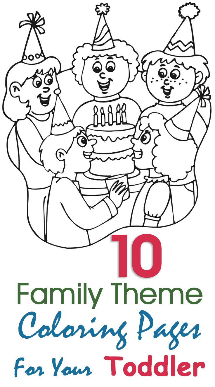 Top 10 Free Printable Family Coloring