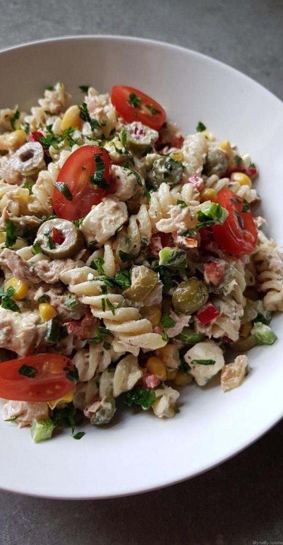 #composée #cuisine #Food #foodpresentation #pâtes #presentat #Salade #Tasty Salade de pâtes composée - My tasty cuisine #foodpresentation #food #presentation #dinner