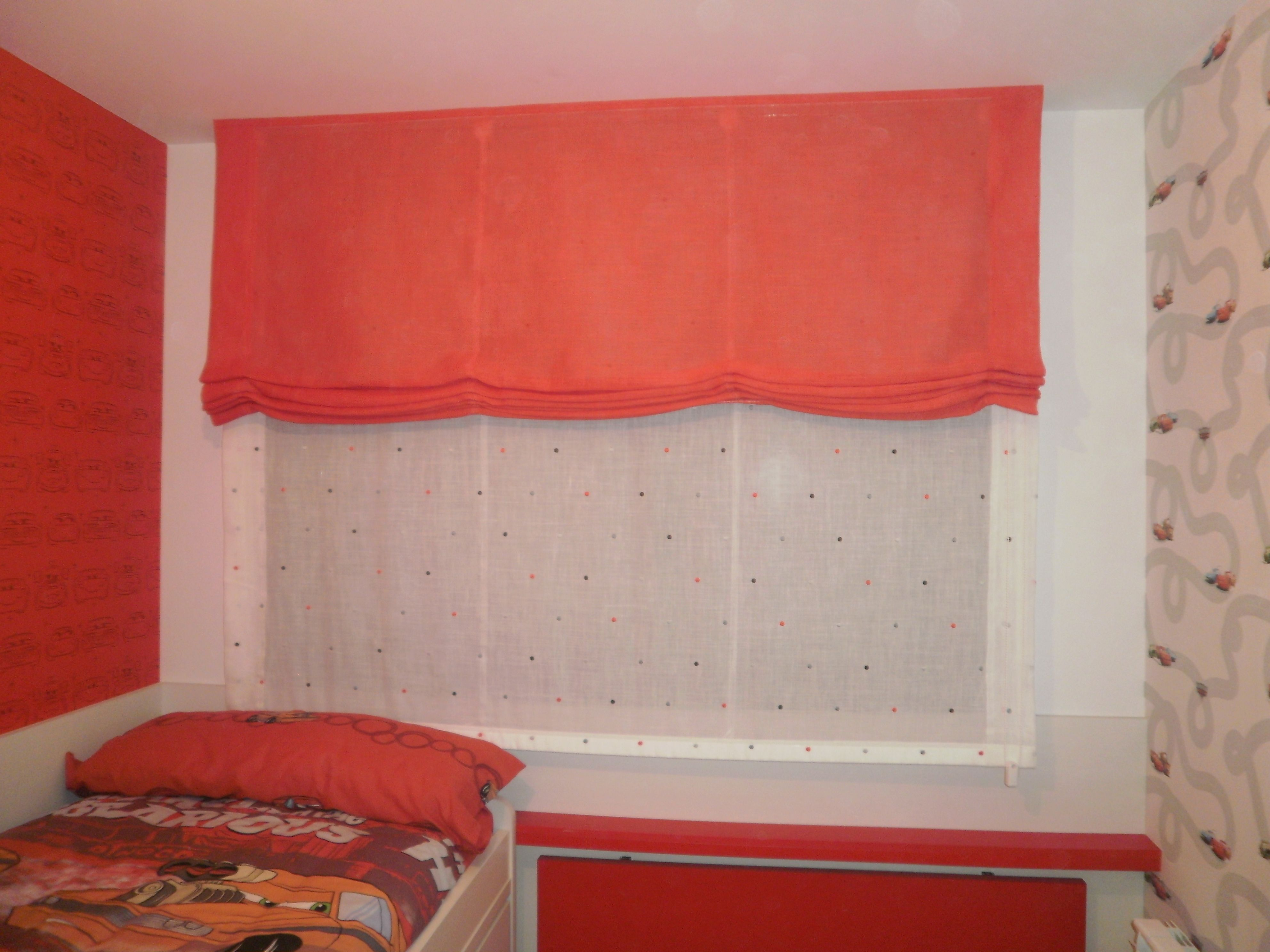 Dobles estores para habitaci n juvenil sol curtains for Cortinas habitacion juvenil