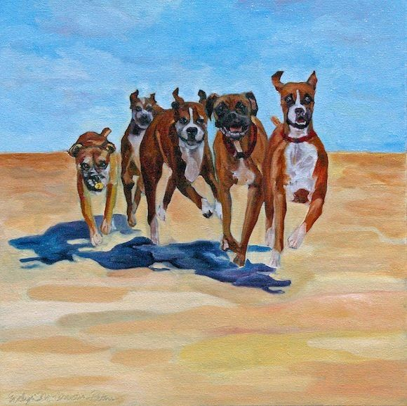 Beach races, awesome painting...